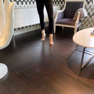 Gucci Patent Leather Ursula Ankle Wrap Sandals